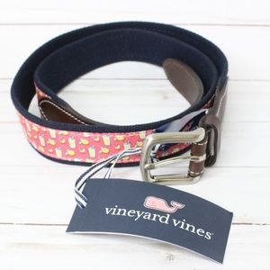 Vineyard Vines Lemonade Belt Size 38 NWT